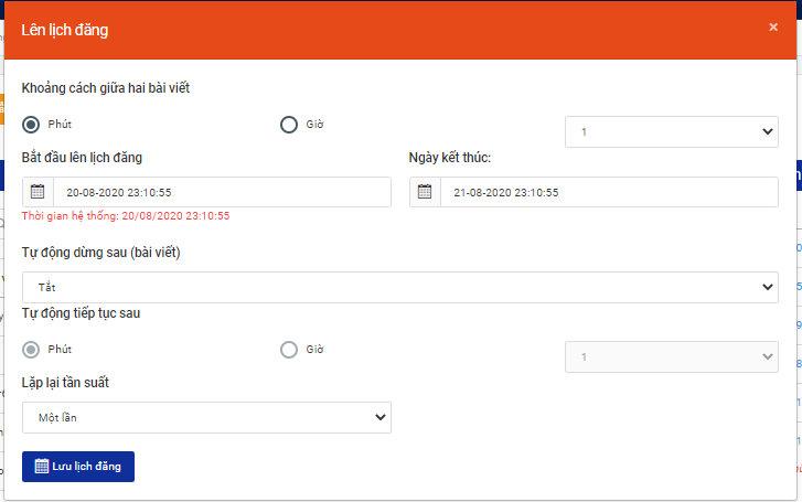 Thiết lập tùy chỉnh đăng bài tự động trên phần mềm Auto Post