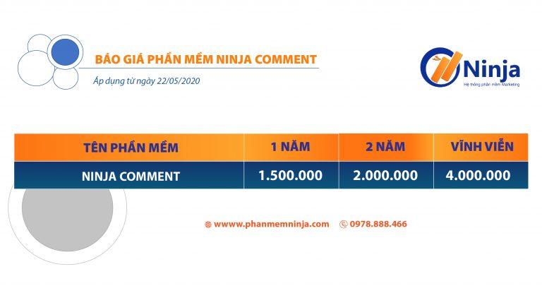 bảng giá ninja comment